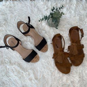 ✨Lot of 2 Mossimo sandals (sizes 7.5 & 7)